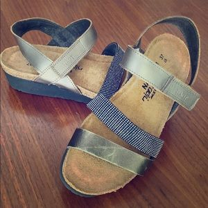 Darling blinged out gold strap NAOT sandals